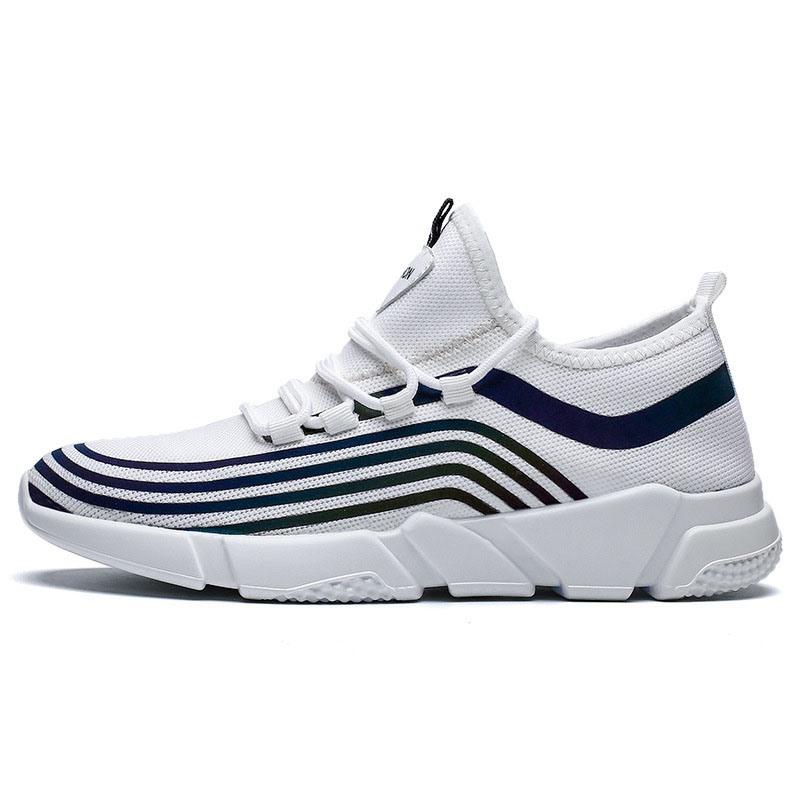 Ericdress Mesh Color Block Round Toe Men's Chic Sneakers