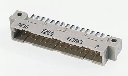 ERNI 48 Way 2.54mm Pitch, Type C/2 Class C2, 3 Row, Straight DIN 41612 Connector, Socket