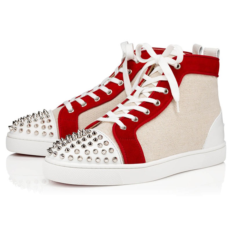 Ericdress Color Block Rivet Lace-Up Round Toe Men's Skate Shoes
