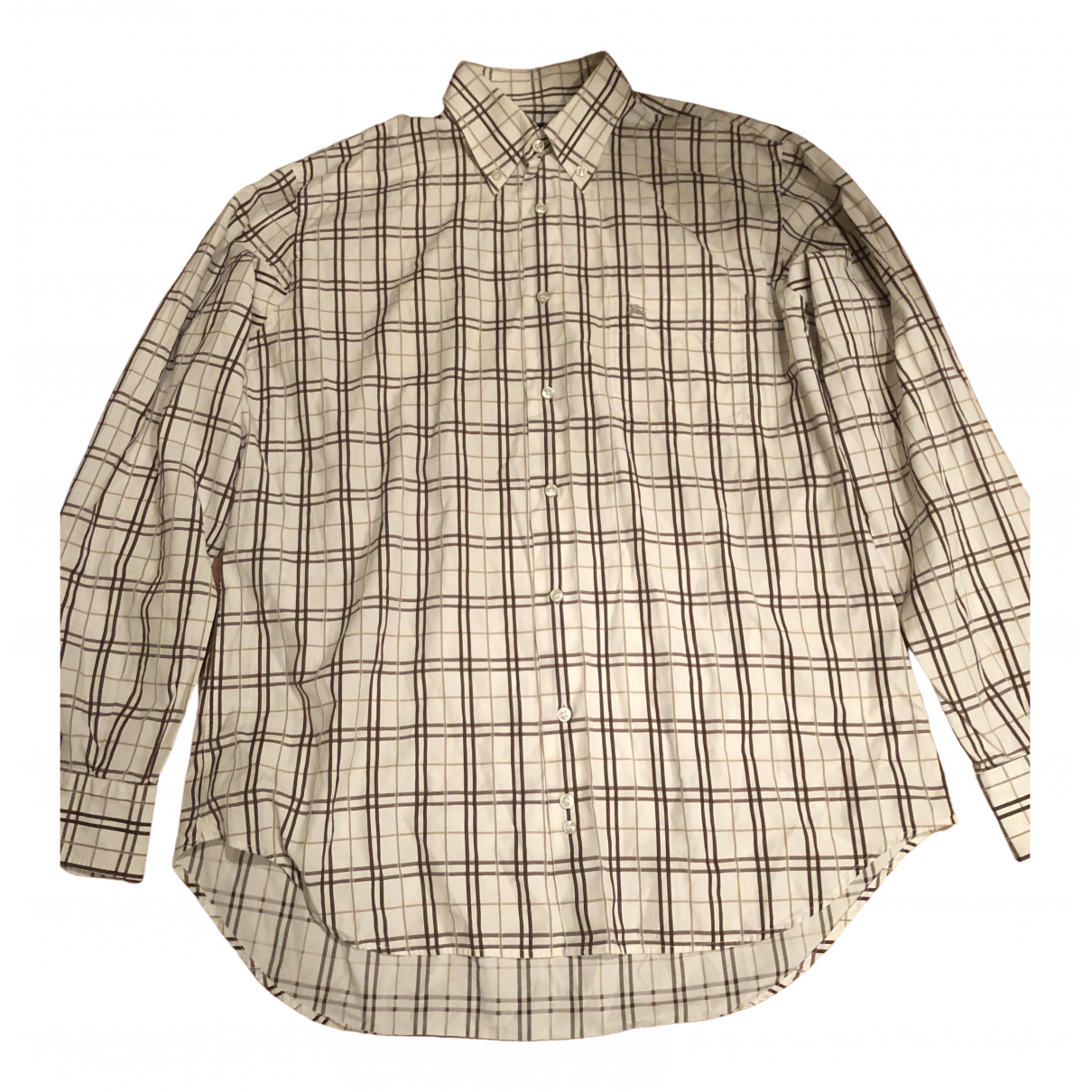 Burberry \N Beige Cotton Shirts for Men L International