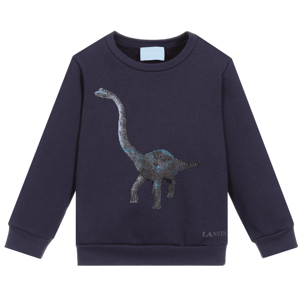 Lanvin Kids Dinosaur Sweatshirt Colour: NAVY, Size: 10 YEARS