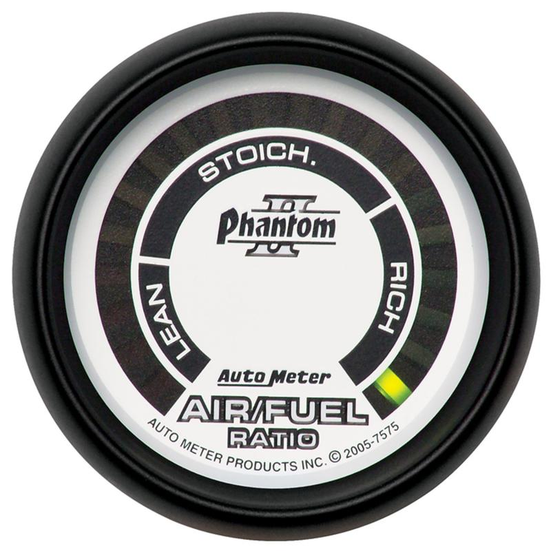 AutoMeter GAUGE; AIR/FUEL RATIO-NARROWBAND; 2 1/16in.; LEAN-RICH; LED ARRAY; PHANTOM II