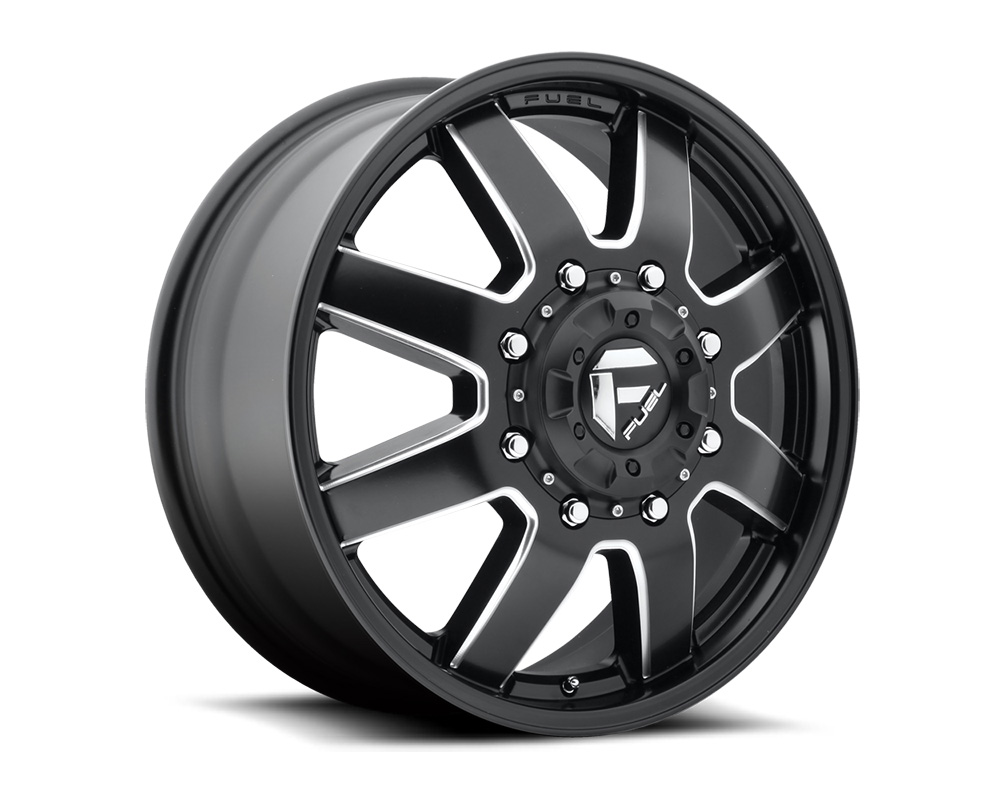 Fuel D538 Maverick Dualie Front Black & Milled 1-Piece Cast Wheel 22x8.25 8x170 104.8mm