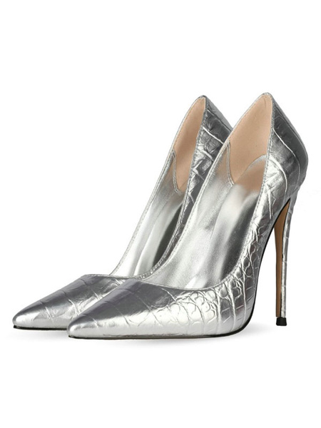 Milanoo Women\'s High Heels Pointed Toe Stiletto Heel Sexy Blond Snakeskin Print Pumps