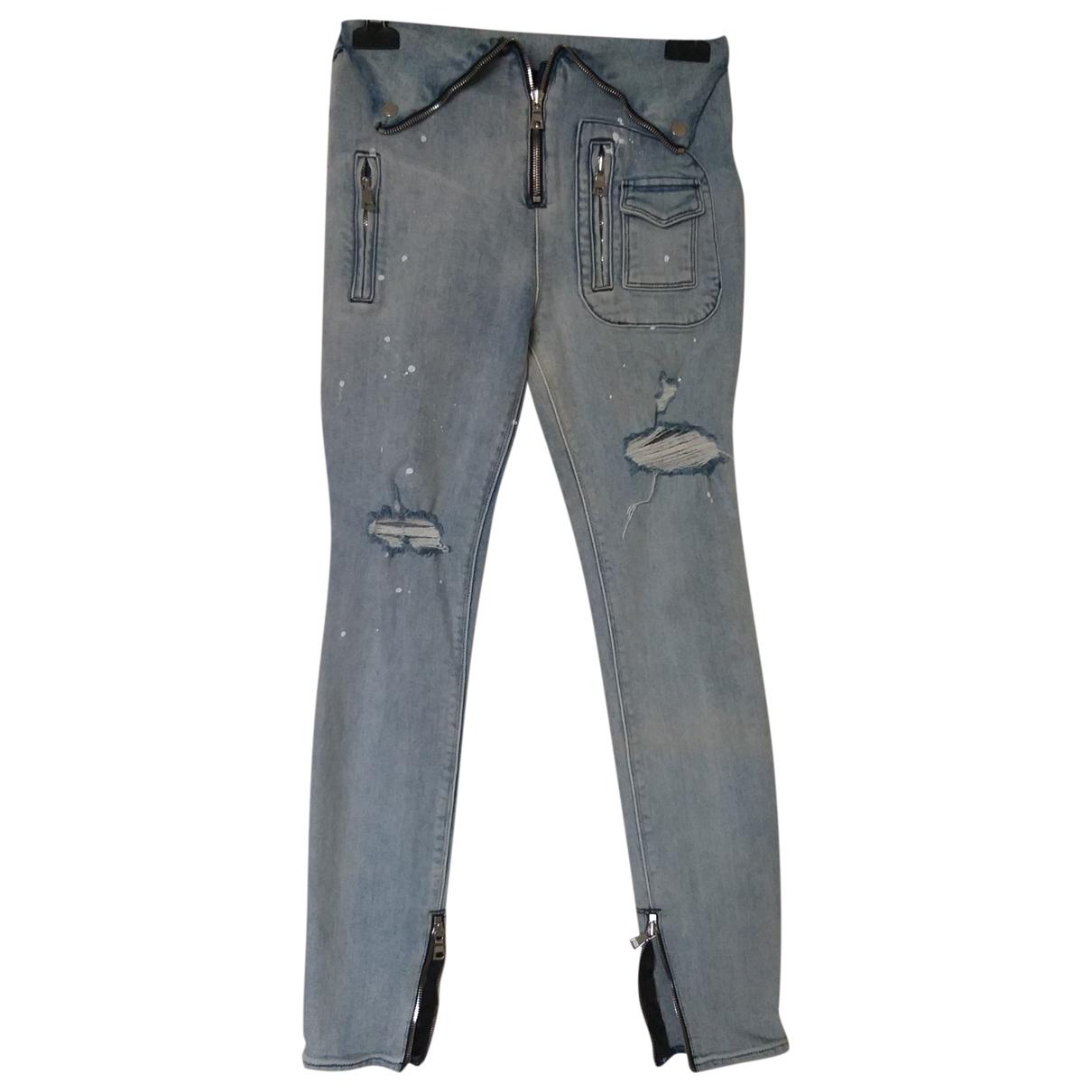 Rta \N Blue Cotton - elasthane Jeans for Women 26 US