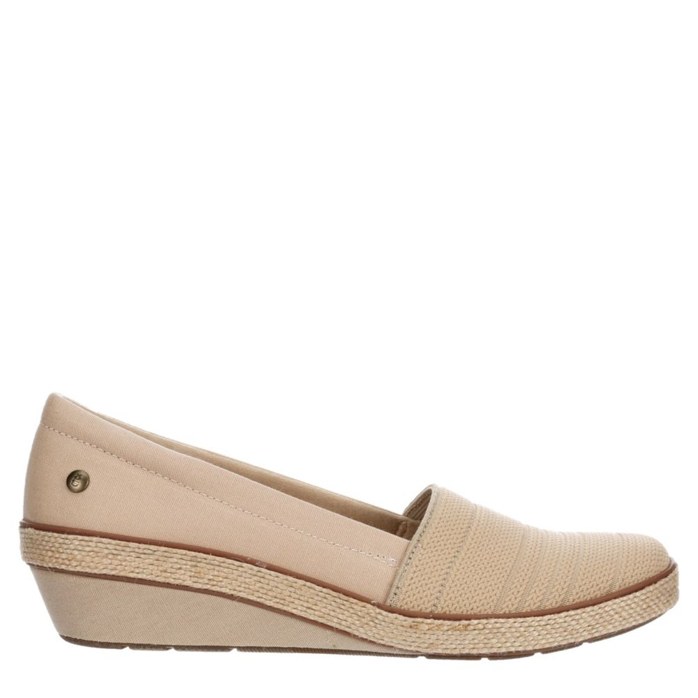 Grasshoppers Womens Quinn Slip-On Jute Wedge Espadrille Sandals