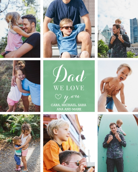 Family 8x10 Wood Panel, Home D??cor -We Love You Tiles Dad