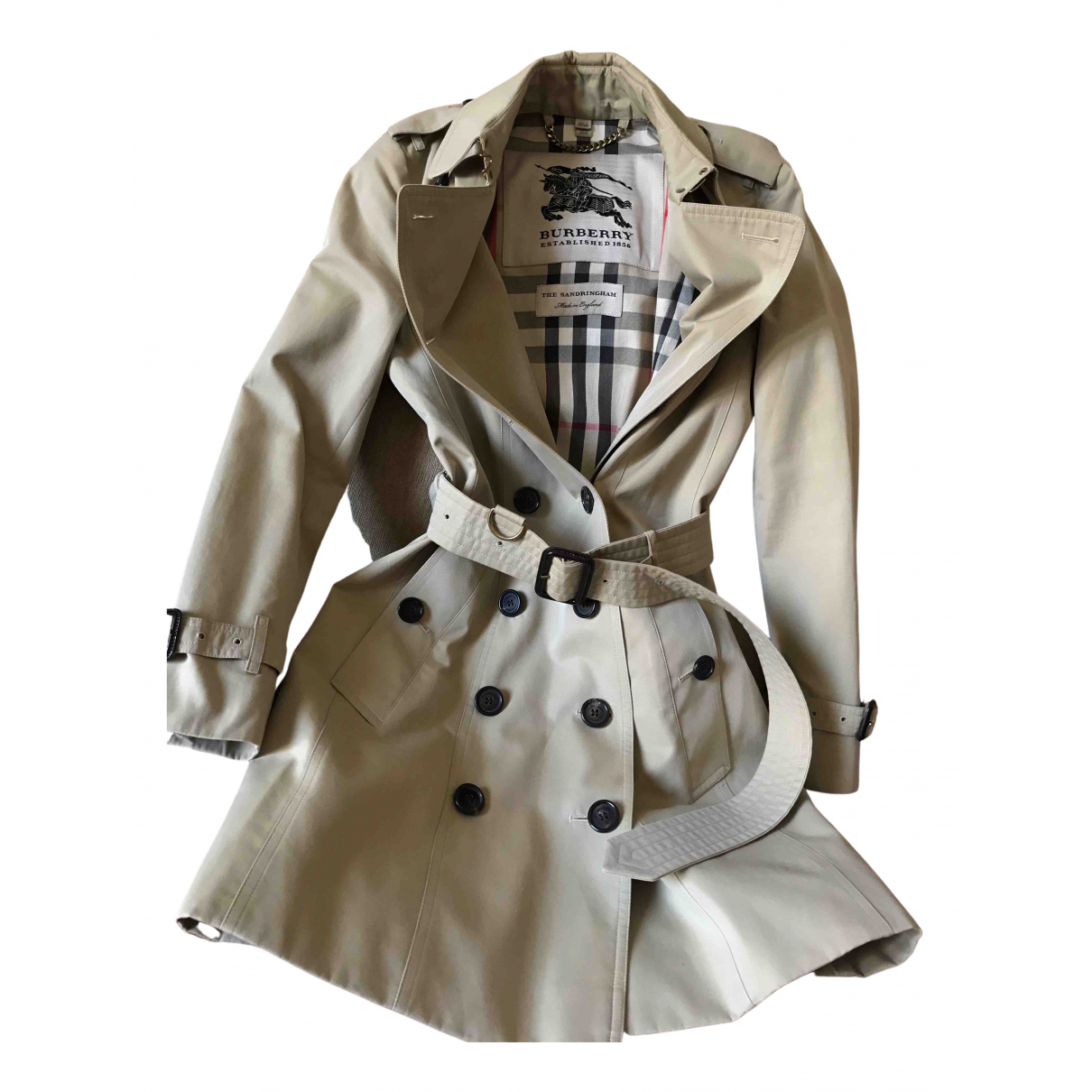 Burberry \N Beige Cotton Trench coat for Women XS International