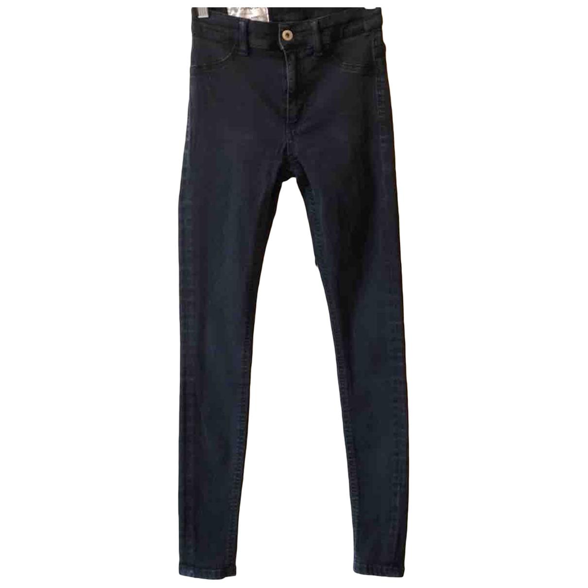 Dondup \N Black Cotton Trousers for Women 38 IT