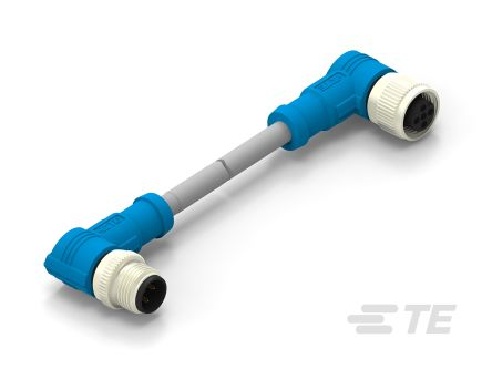 TE Connectivity Circular Connector, 3 contacts Cable Mount M12 x M12 Plug and Socket, Crimp IP67