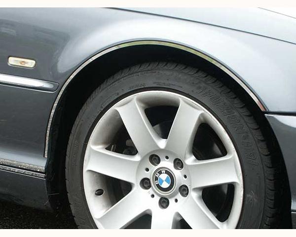 Quality Automotive Accessories 4-Piece Stainless Steel Wheel Well Fender Trim Kit BMW 330Ci 2003