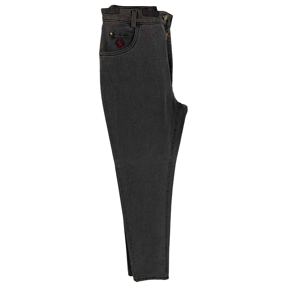 Non Signé / Unsigned \N Grey Denim - Jeans Trousers for Women 40 IT