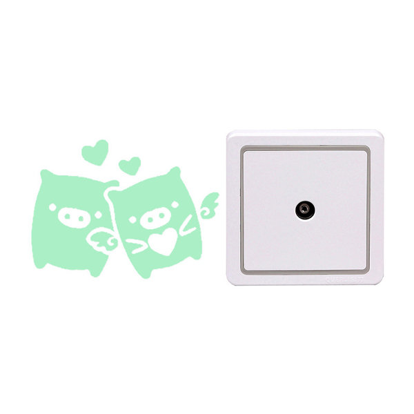 Pig Creative Luminous Switch Sticker Removable Glow In The Dark Wall Decal Home Decor
