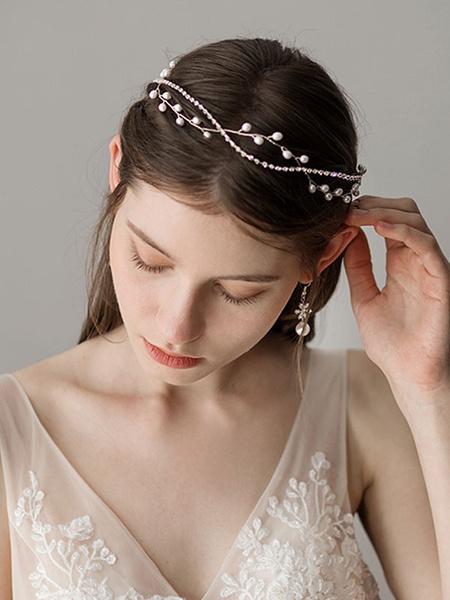 Milanoo Wedding Headpieces Hair Accessories Bridal Pearl Rhinestone Headband