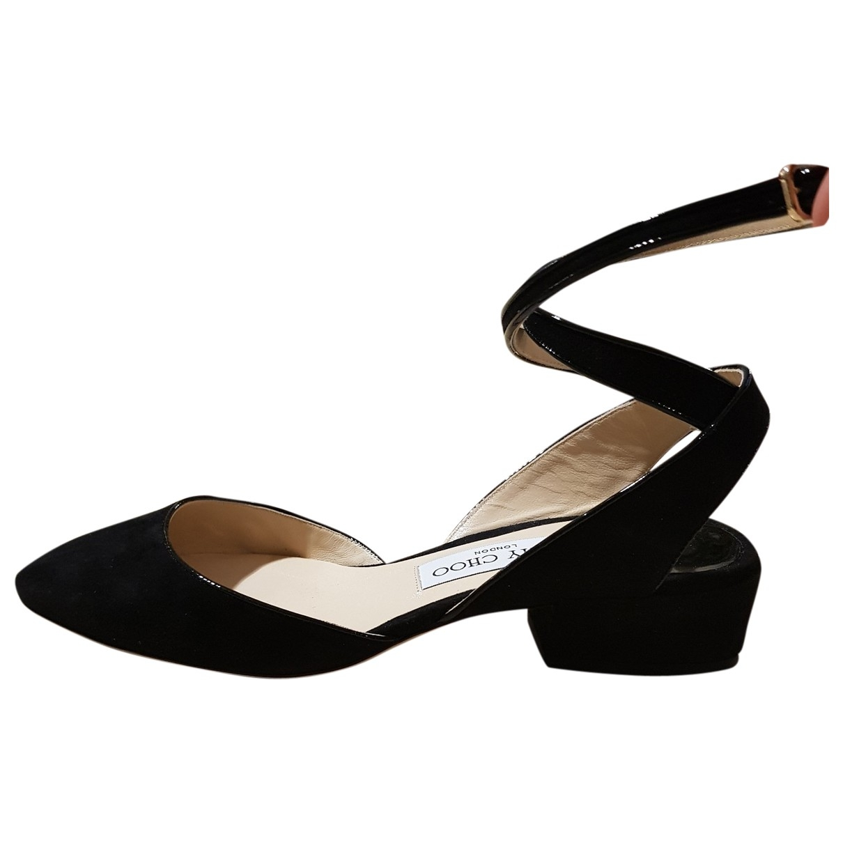 Jimmy Choo \N Black Suede Sandals for Women 37 EU