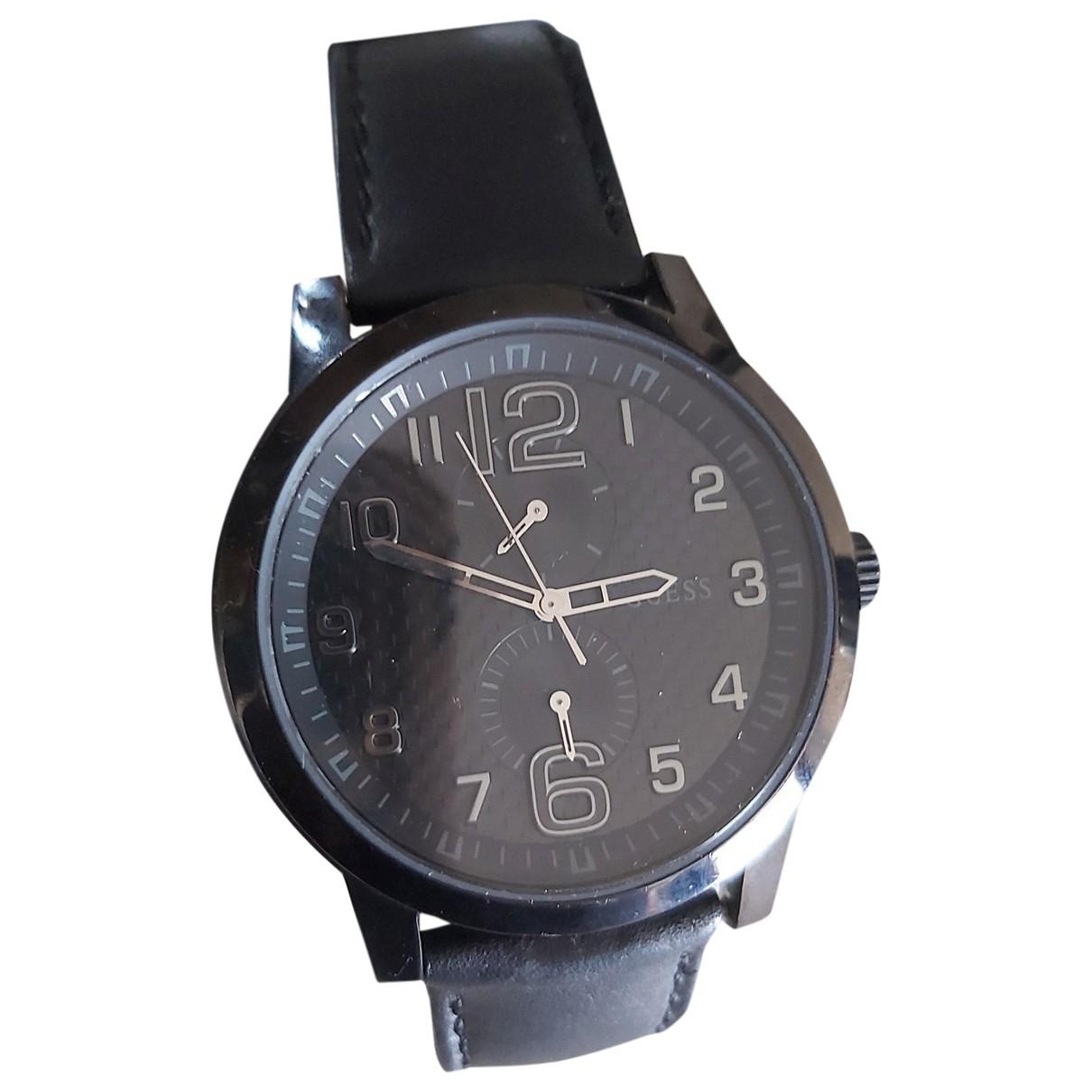 Guess \N Black Steel watch for Men \N