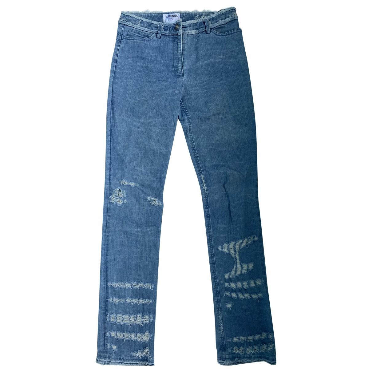 Chanel \N Blue Denim - Jeans Jeans for Women 38 FR