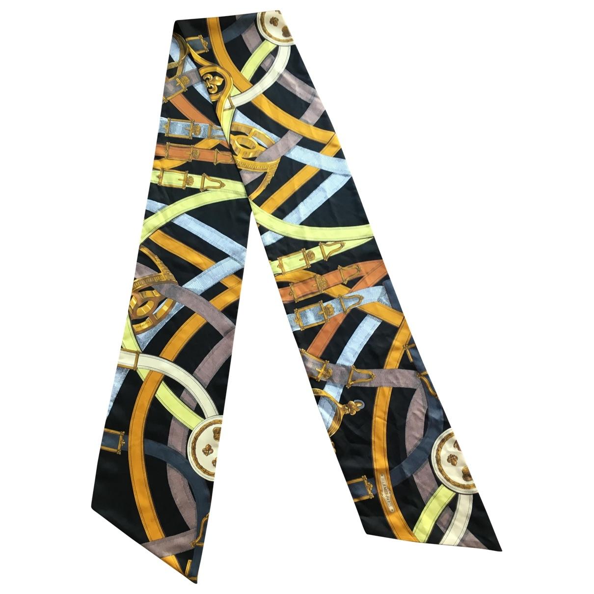 Hermès Maxi twilly Black Silk scarf for Women \N