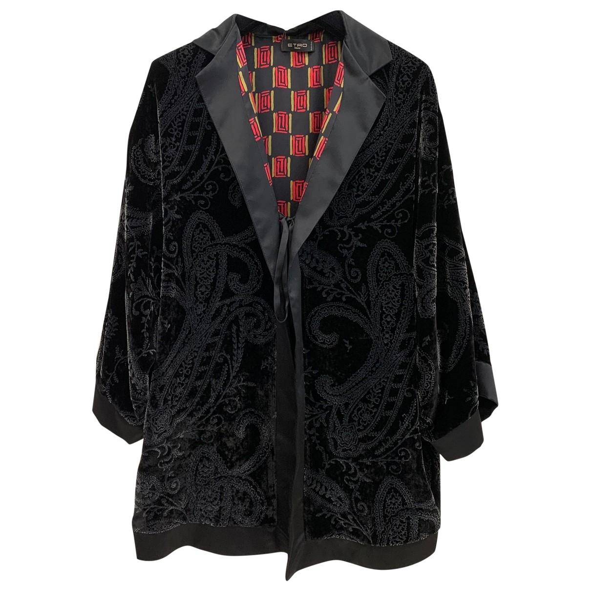 Etro \N Grey Velvet jacket for Women One Size International