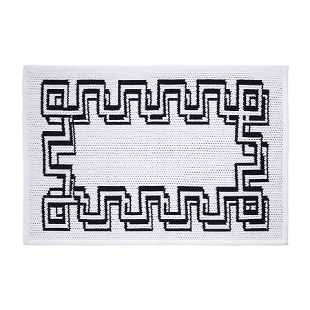 Now House By Jonathan Adler Gramercy Bath Rug, One Size , White