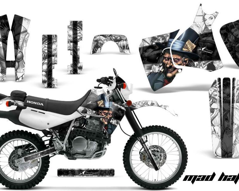 AMR Racing Dirt Bike Decal Graphic Kit MX Sticker Wrap For Honda XR650L 1993-2018áHATTER BLACK WHITE