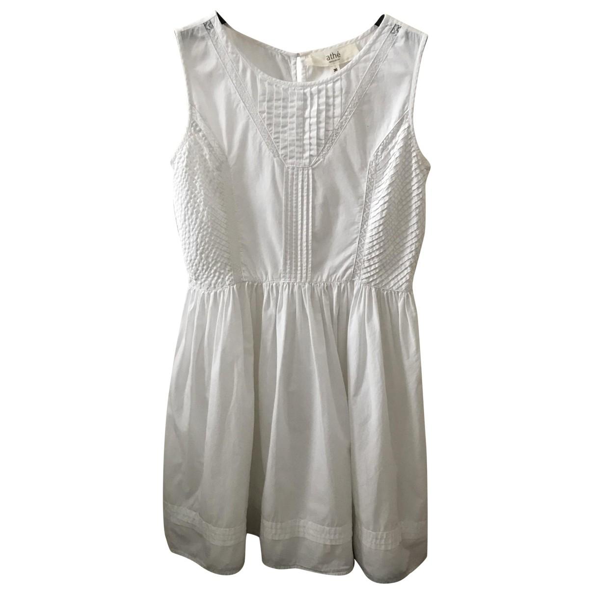 Vanessa Bruno Athe \N White Cotton dress for Women 36 FR