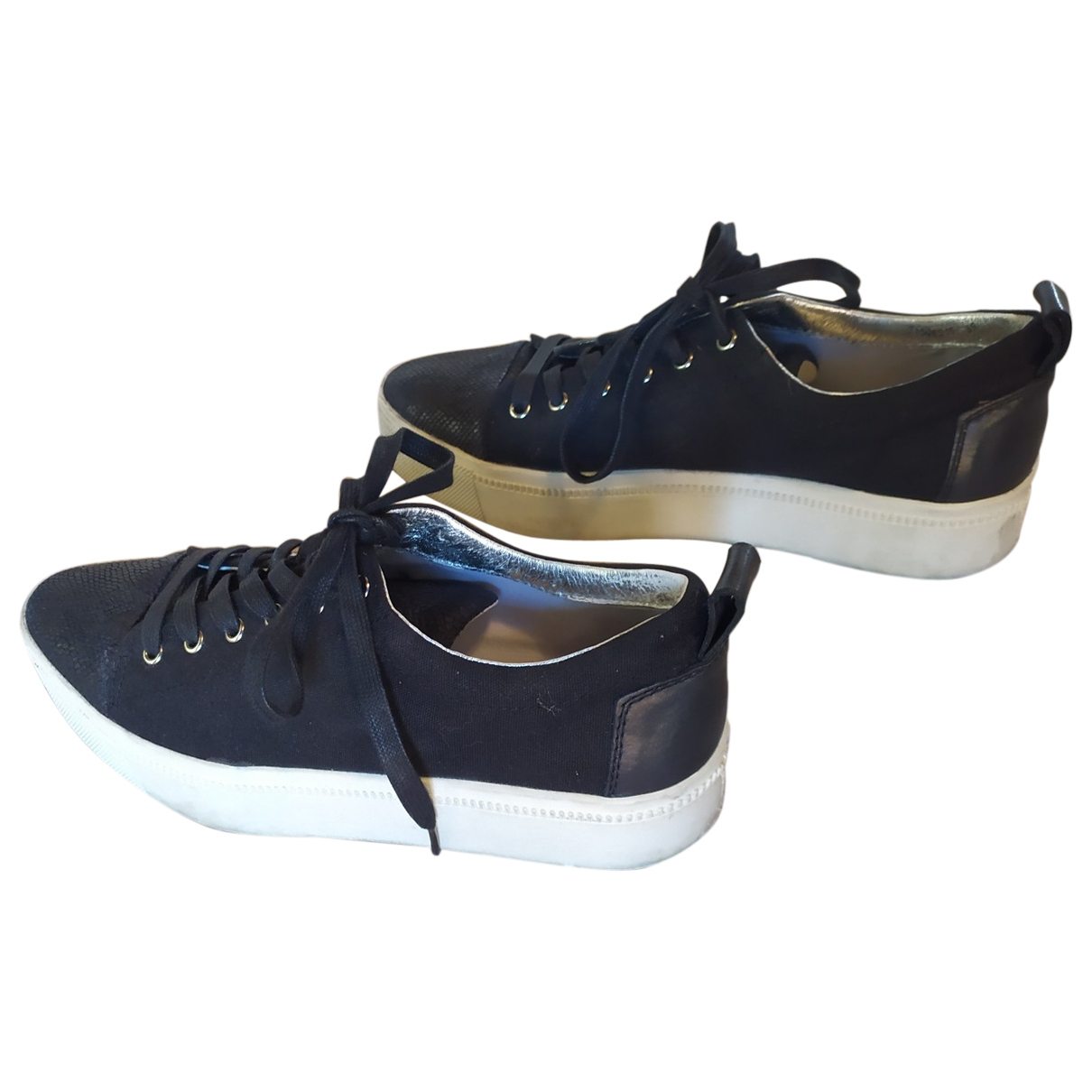 Non Signé / Unsigned \N Black Cloth Trainers for Women 39 EU
