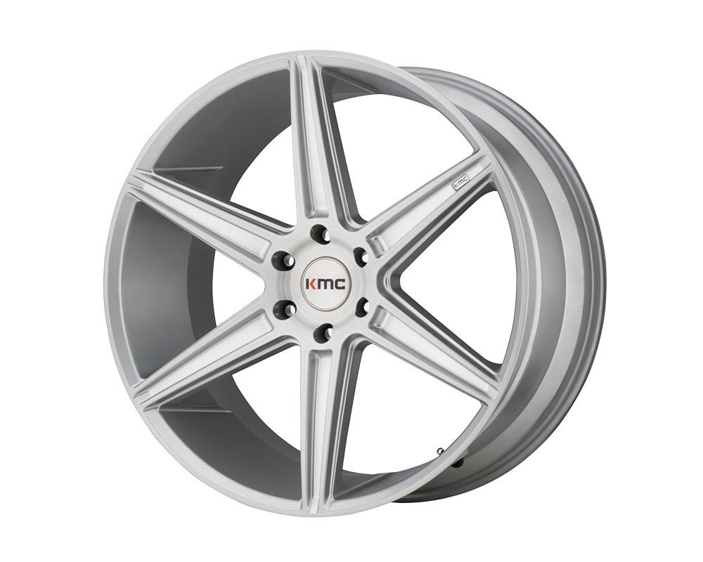 KMC KM712 Prism Truck Wheel 22x9.5 6x6x139.7 +30mm Brushed Silver