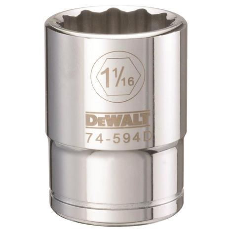 DeWalt 12 Point 3/4# Drive Socket 1-1/16 Sae