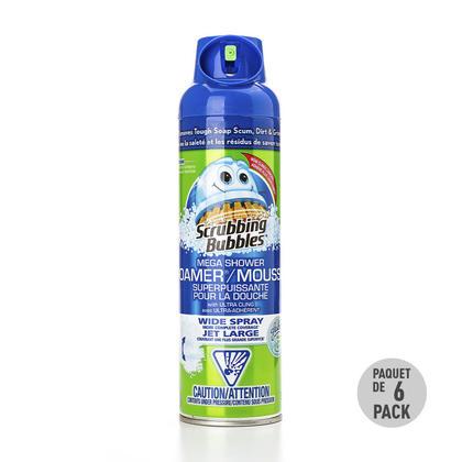 Mega Shower Foamer Bathroom Cleaner Fighter Aerosol, 567g - Scrubbing Bubbles® - 6/Pack