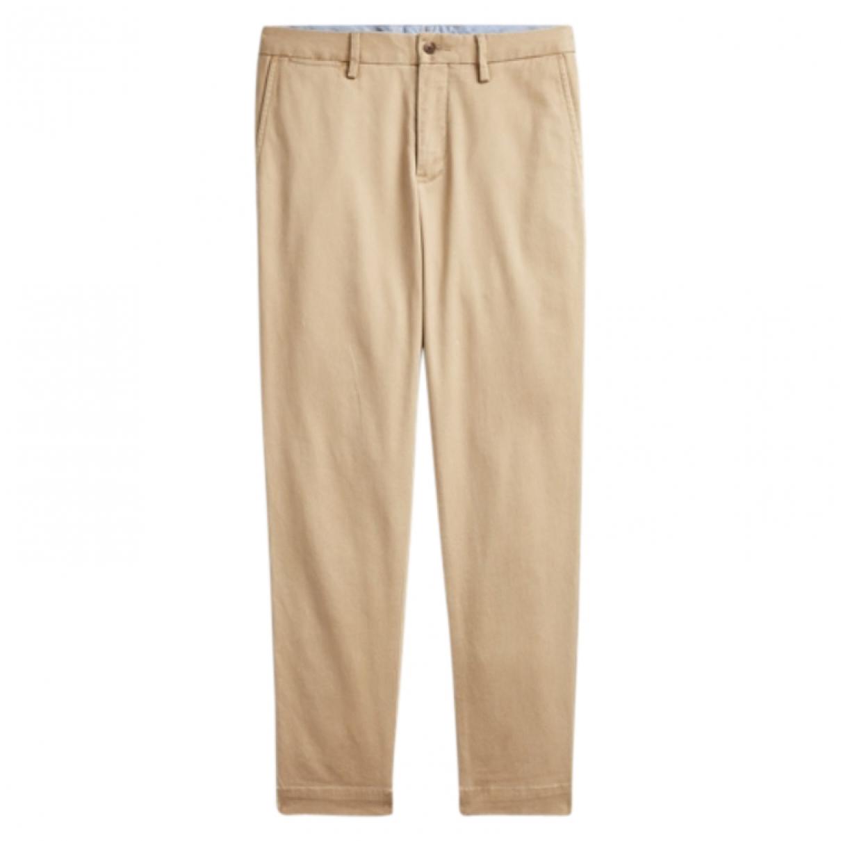 Polo Ralph Lauren \N Beige Cotton Trousers for Women 10 US