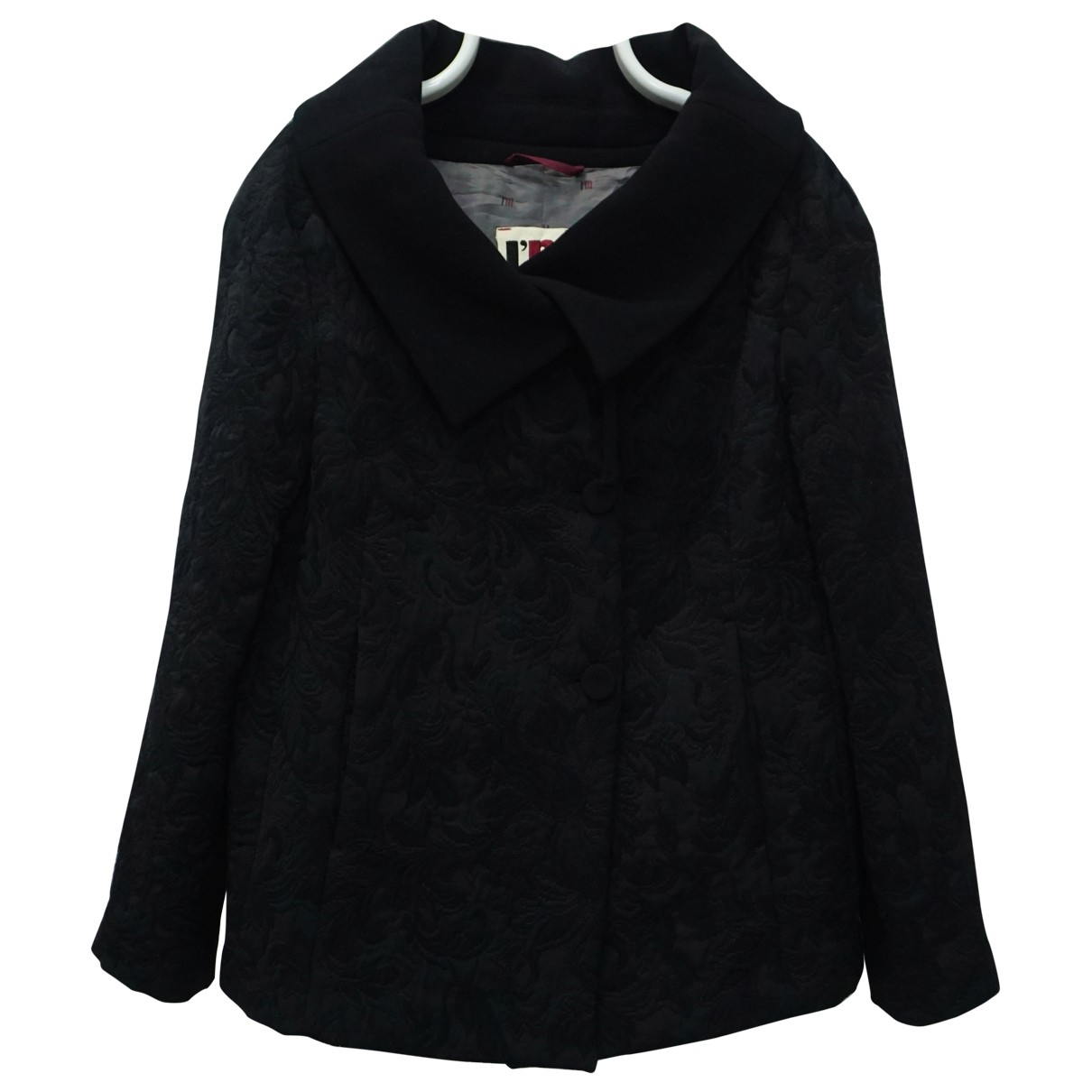 Non Signé / Unsigned \N Black Wool coat for Women M International