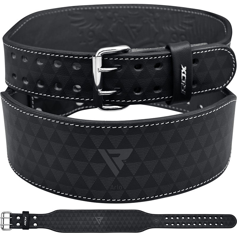 RDX ARLO 4 Inch Leather Weightlifting Fitness Gym Belt