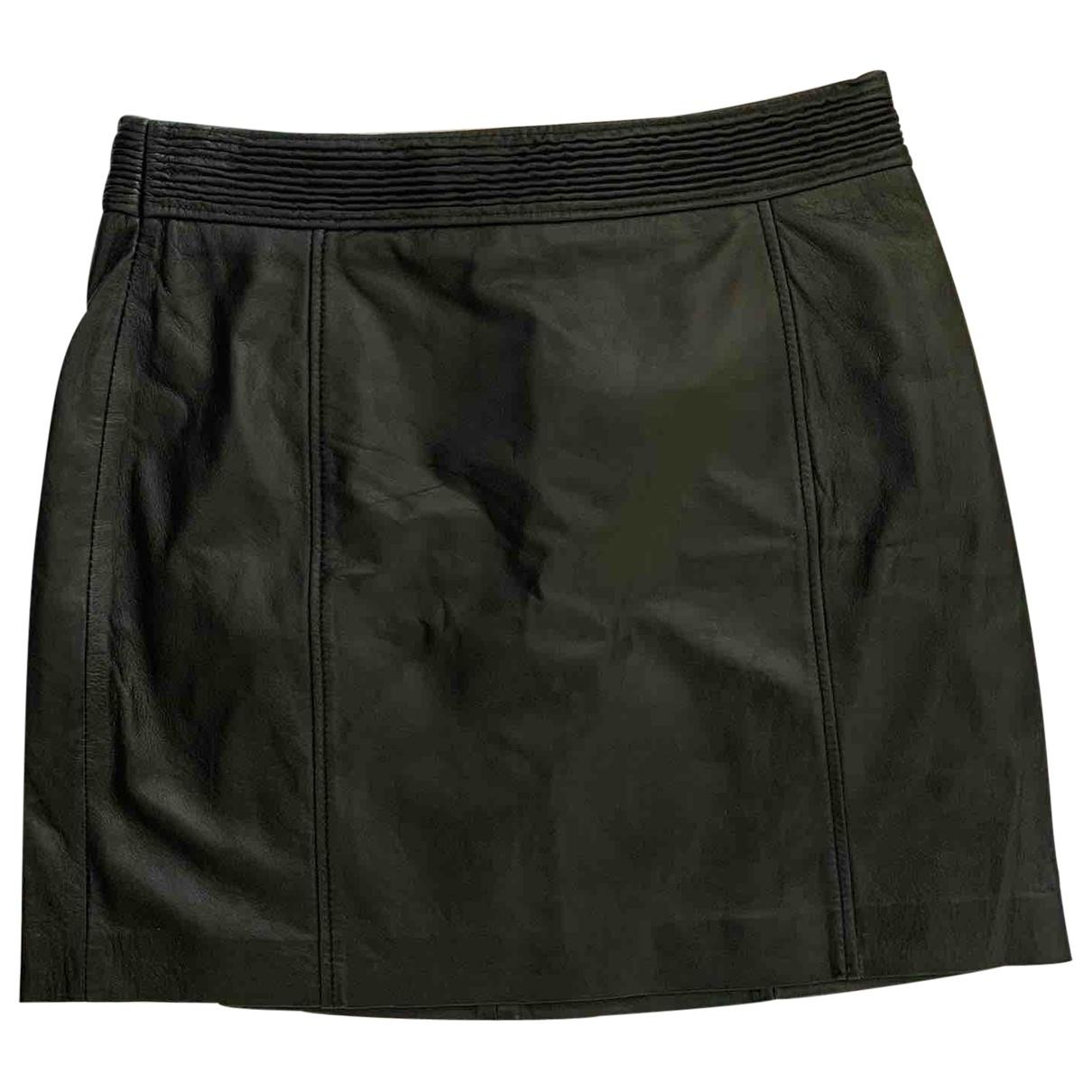 Mango \N Black Leather skirt for Women 42 FR