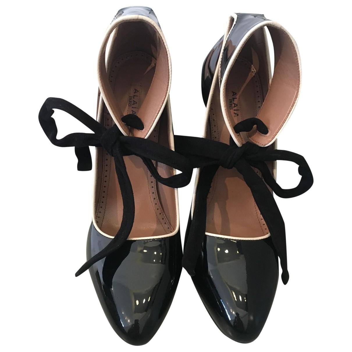 Alaïa \N Black Patent leather Heels for Women 39 EU