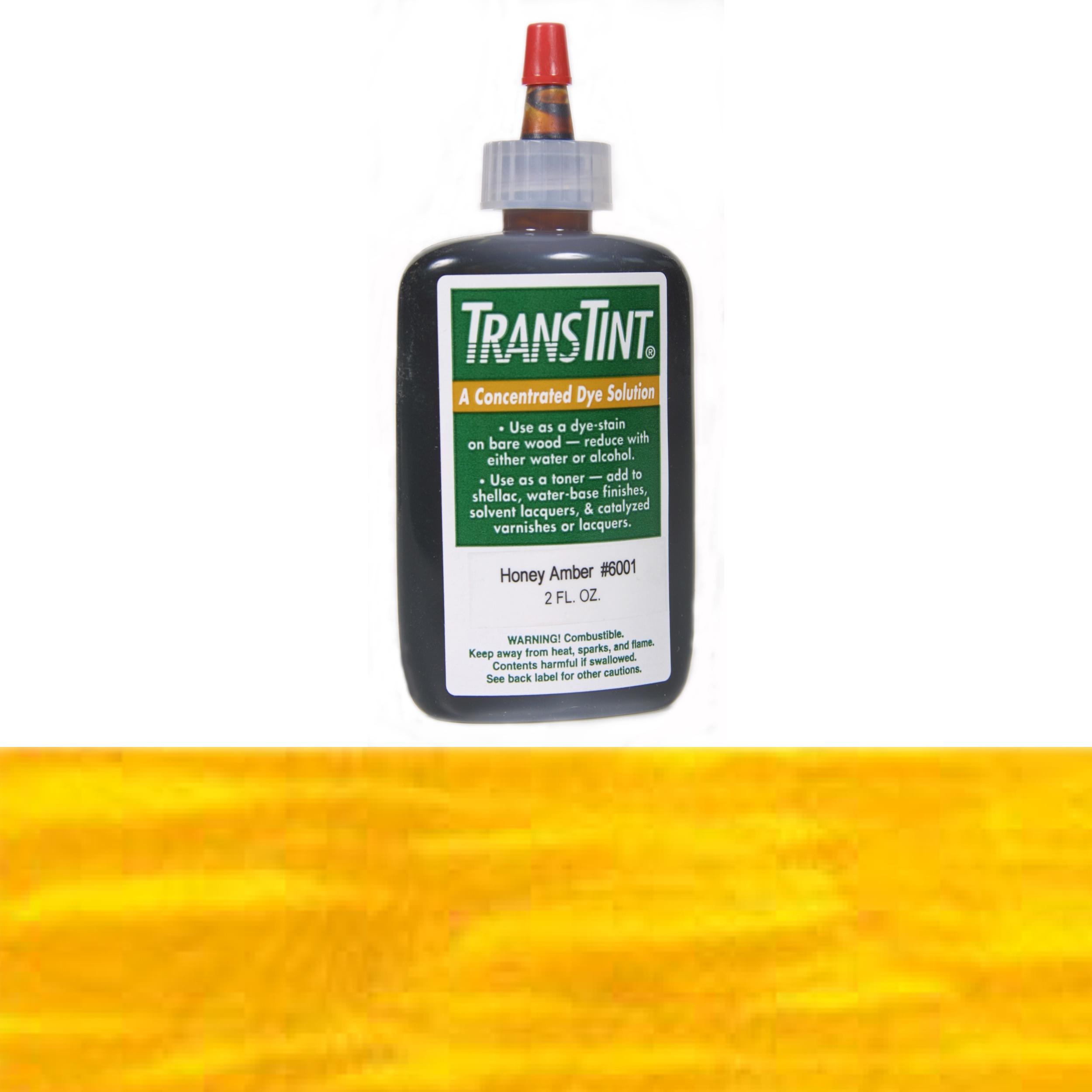 Amber Transtint Alcohol/Water Soluble Dye 1 oz