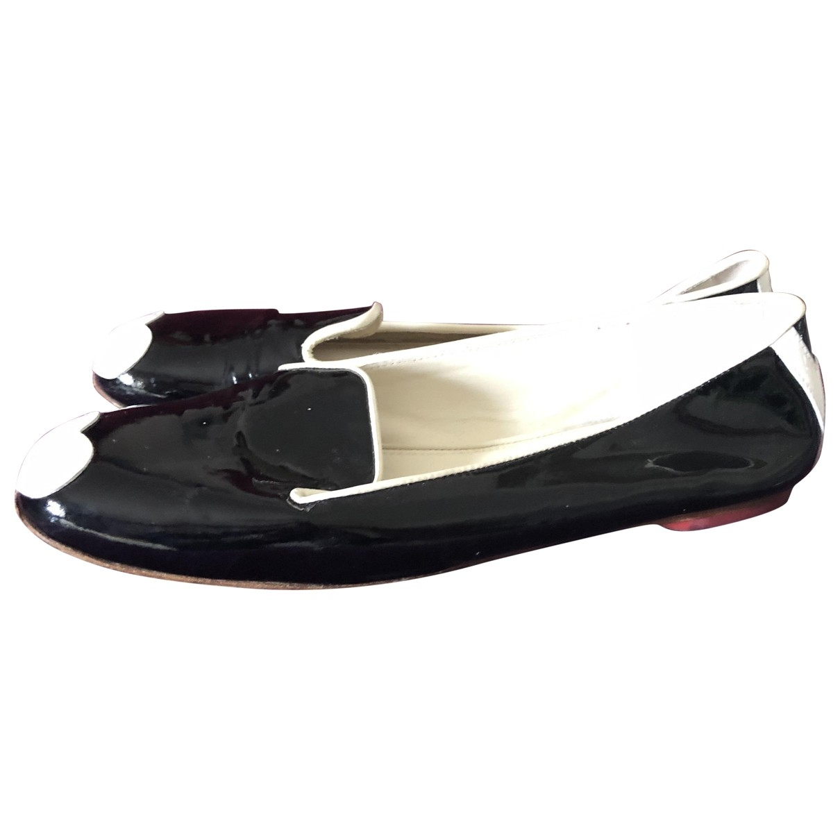 Hogan \N Black Patent leather Flats for Women 39 EU