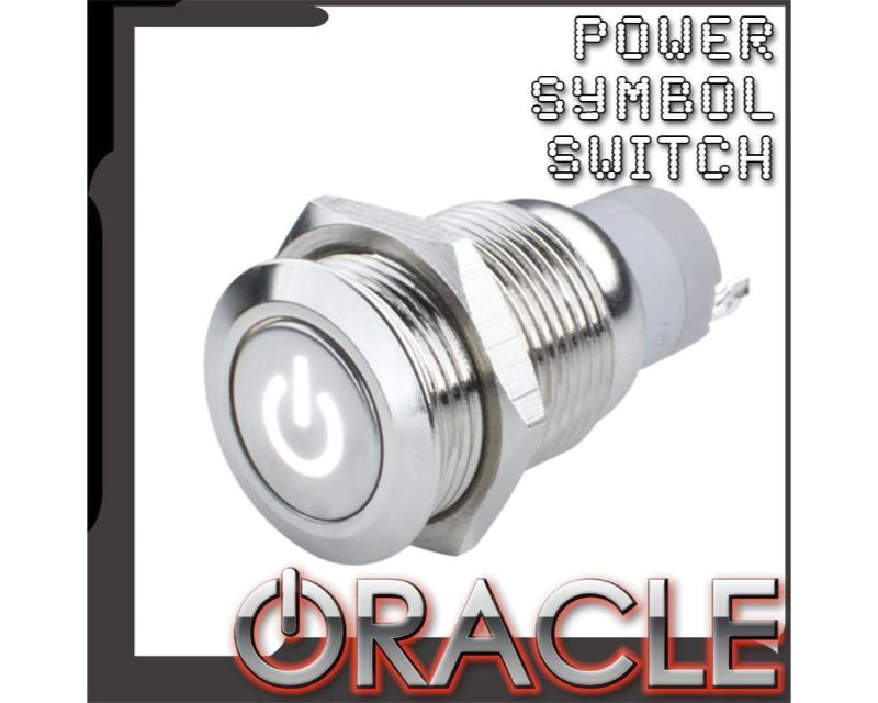 Oracle Lighting 2050-002 Pre-Wired Power Symbol Flush Mount Led Switch Blue Momentary