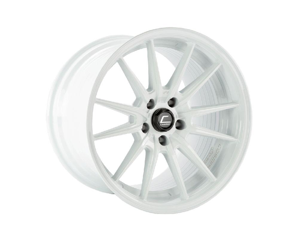 Cosmis Racing R1PRO-1812-24-5x114.3-W R1 Pro Wheel 18x12 5x114.3 +24mmo White
