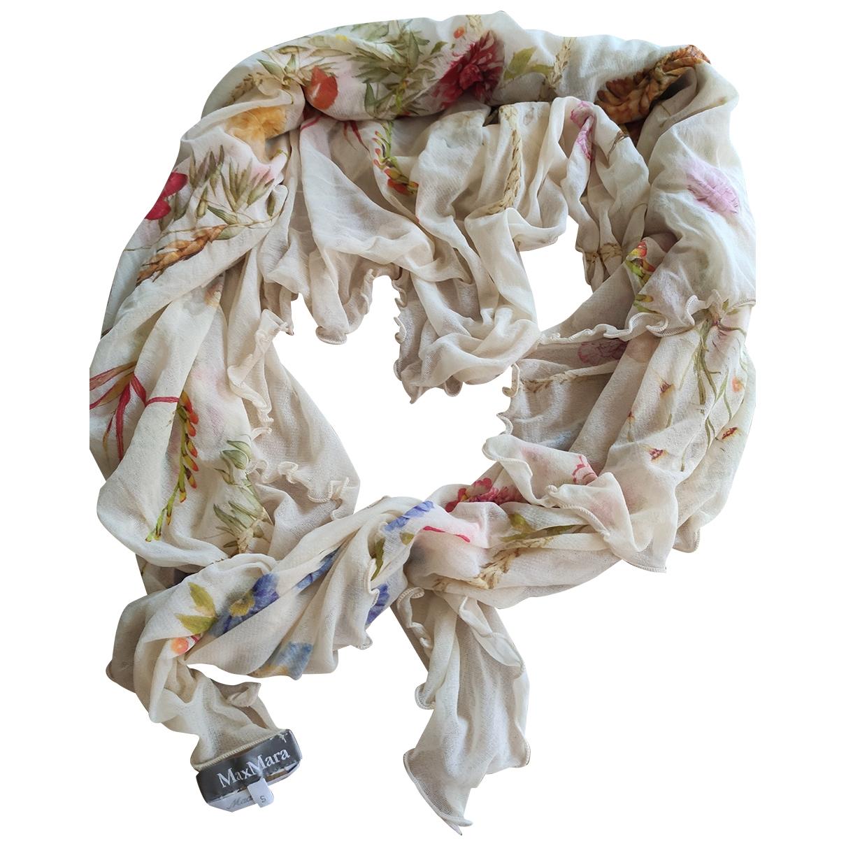 Max Mara \N Beige Silk scarf for Women \N