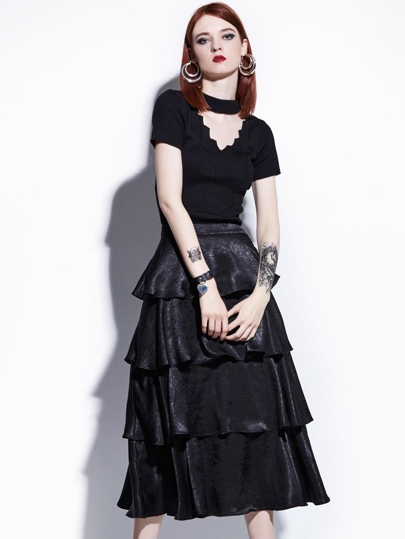 Standard-Waist Layered Skirts