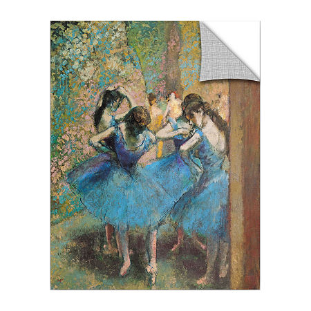 Brushstone Dancers in Blue Removable Wall Decal, One Size , Blue