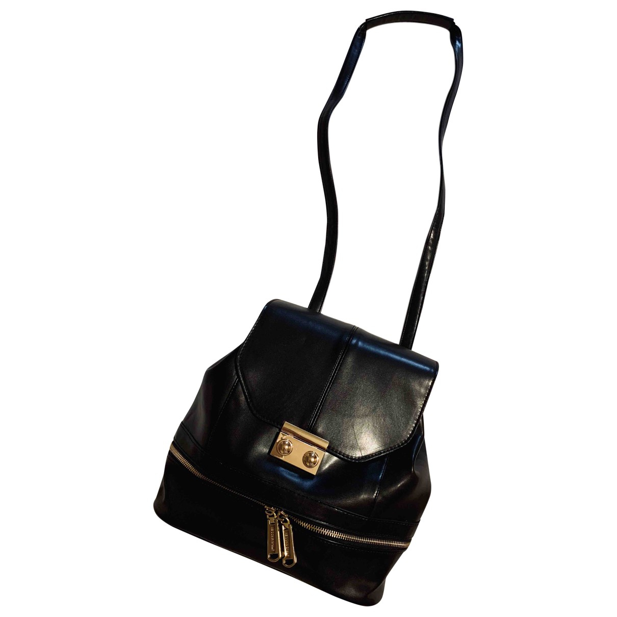 Steve Madden \N Black Leather backpack for Women \N