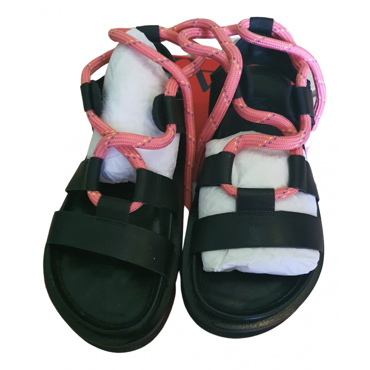 Max & Co \N Black Leather Sandals for Women 37 EU
