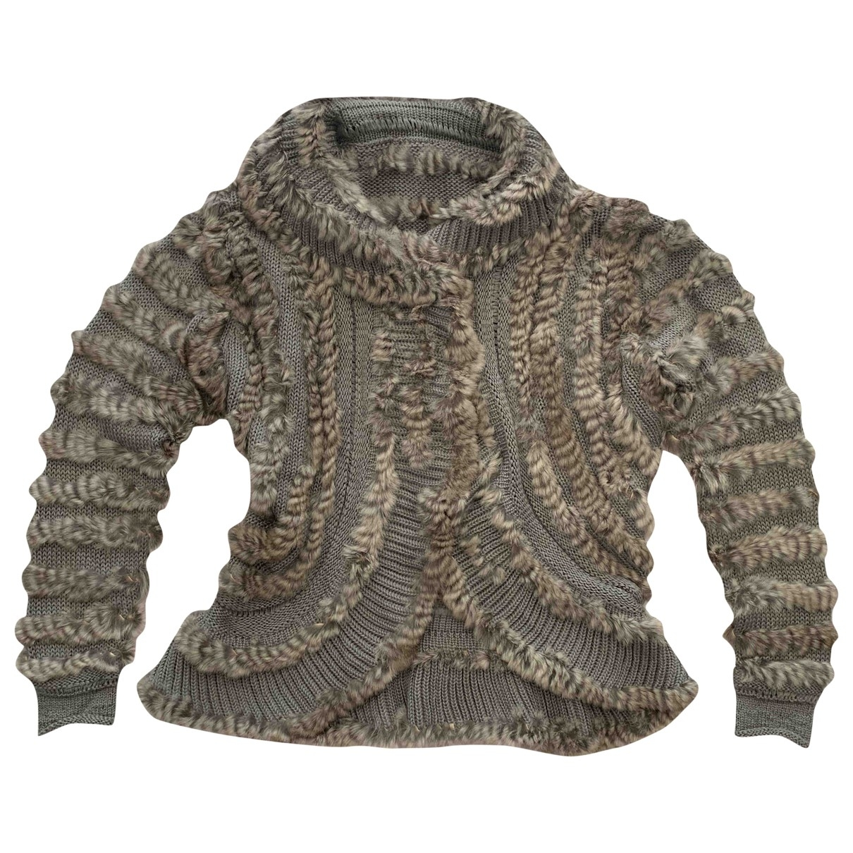 Non Signé / Unsigned \N Grey Rabbit Knitwear for Women L International
