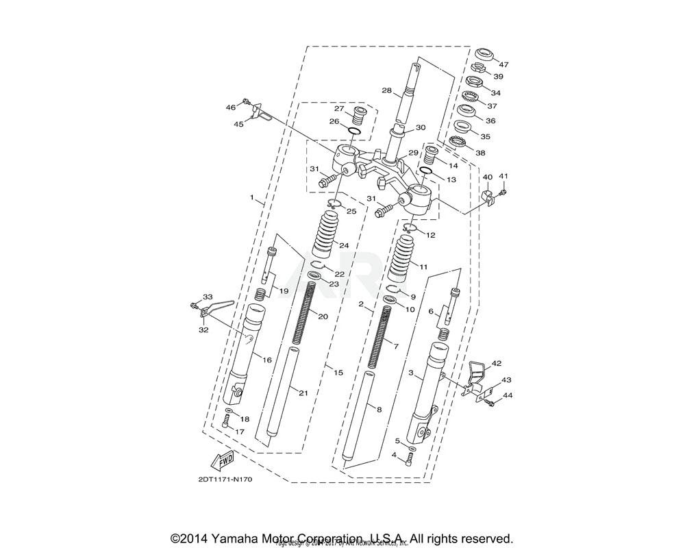 Yamaha OEM 1CD-F3102-10-00 FRONT FORK ASSY (L.H)