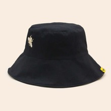 Bee Embroidered Bucket Hat