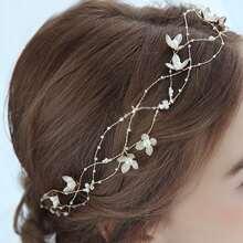 Faux Pearl Decor Hair Accessory