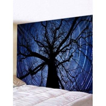 Halloween Sky Tree Print Waterproof Tapestry