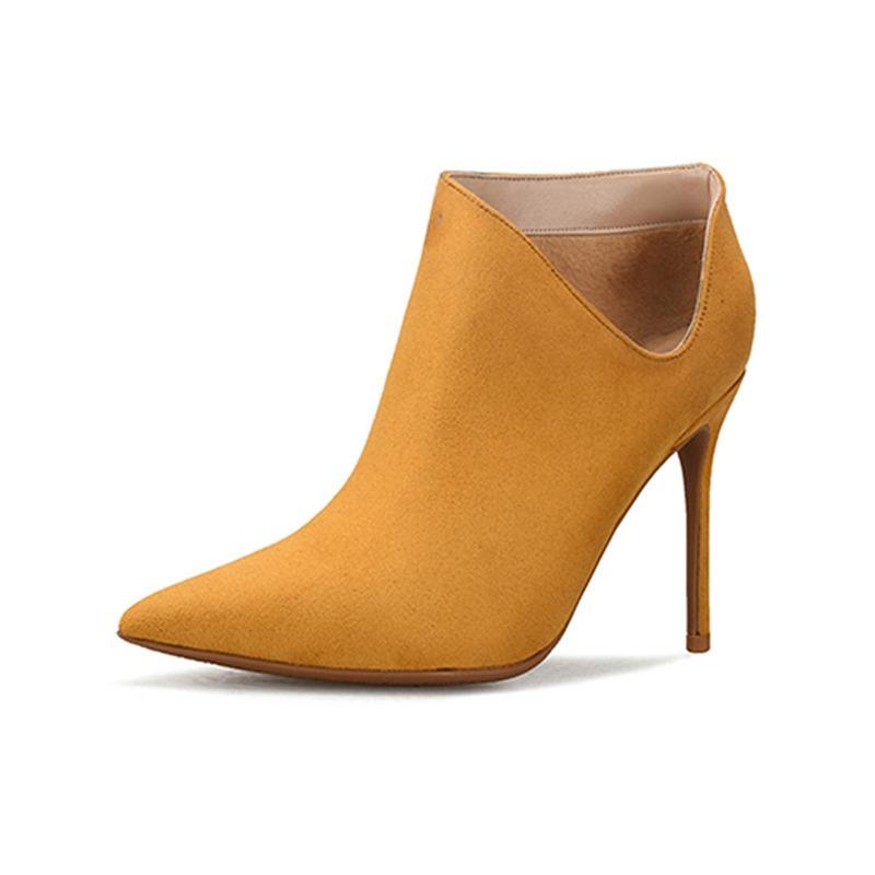 Ericdress Pointed Toe Stiletto Heel Plain Western Boots